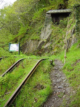 Bryn Eglwys - The top of Alltwyllt, the first incline leading to the quarry from Nant Gwernol station / sidings