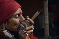 Ganja Smoking - Gangasagar Fair Transit Camp - Kolkata 2013-01-12 2643.JPG