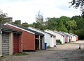 Garages in pastel colours - geograph.org.uk - 1506119.jpg