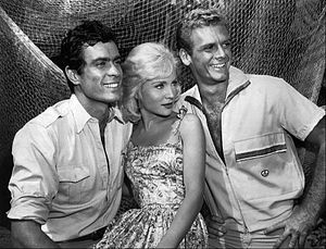 Susan Oliver - With Gardner McKay and Guy Stockwell in Adventures in Paradise (1961)