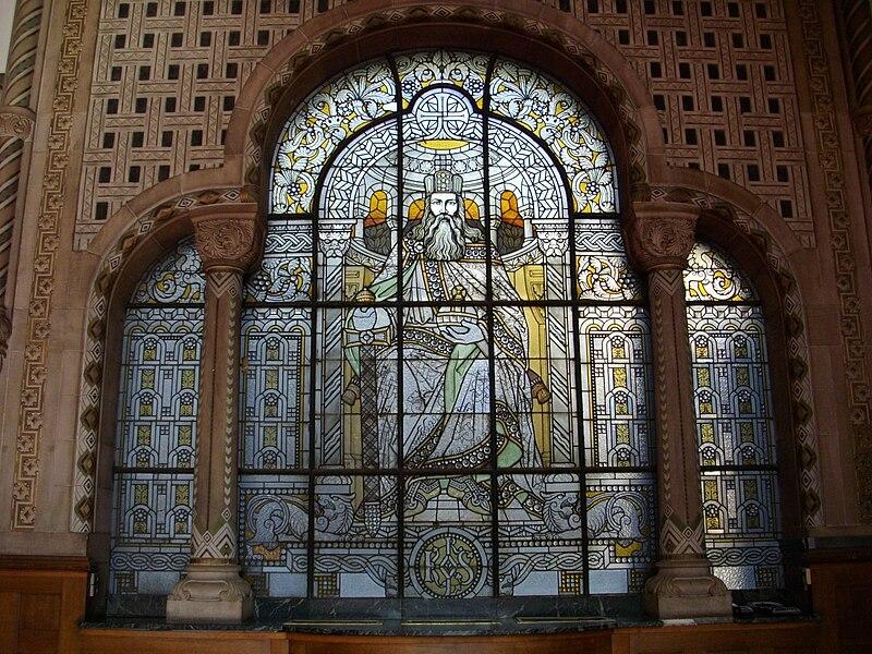 Gare de Metz - portail de Charlemagne.JPG