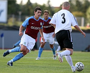 Gareth Barry - Barry in action against Icelandic club FH in 2008