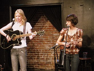 Kate Micucci - Performing as Garfunkel And Oates with Riki Lindhome at Upright Citizens Brigade Theater in 2009