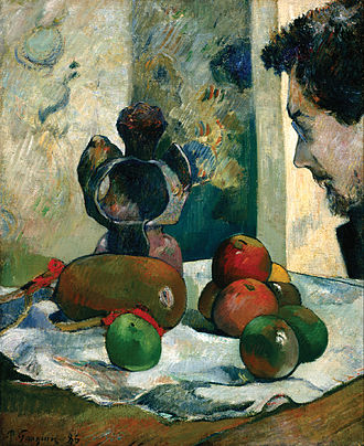 Charles Laval - Paul Gauguin, Still Life with Profile of Laval, 1886, Indianapolis Museum of Art