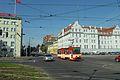 Gdańsk ulica Nowe Ogrody i tramwaj Konstal.JPG