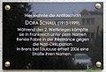 Gedenktafel Dammweg 73 (Plänt) Dora Schaul.jpg