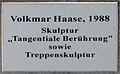 Gedenktafel Lützowplatz 9 (Tierg) Tangentiale Berührung Volkmar Haase 1988.jpg