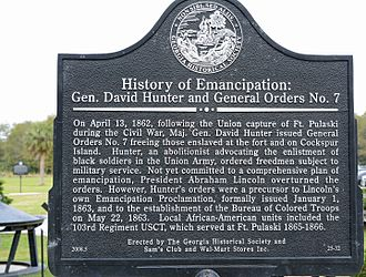 Fort Pulaski National Monument - Historical marker about General Orders No. 7