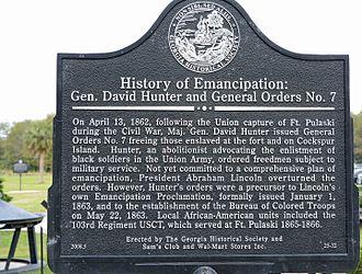 David Hunter - Image: General Orders No. 7, Ft. Pulaski, GA, US
