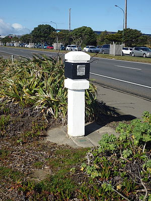Triangulation station - A geodetic survey marker in Wellington, New Zealand