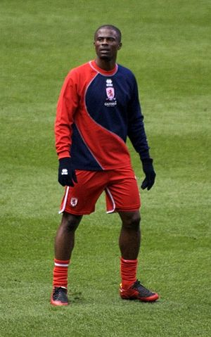 George Boateng - Boateng playing for Middlesbrough in 2008