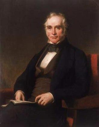 George Holt (cotton-broker) - George Holt, senior. Oil on canvas, 1851, artist unknown.