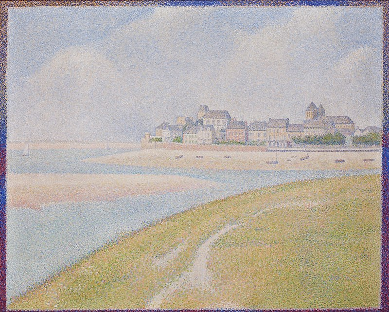 https://upload.wikimedia.org/wikipedia/commons/thumb/8/85/Georges_Seurat_-_View_of_Le_Crotoy_from_Upstream_PC_195.jpg/800px-Georges_Seurat_-_View_of_Le_Crotoy_from_Upstream_PC_195.jpg