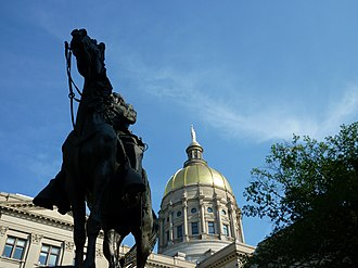 John Brown Gordon statue Georgia State Capitol dome with Gordon statue.jpg