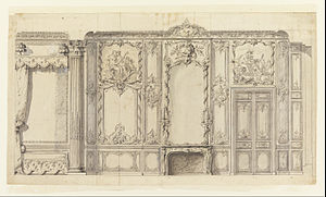 Germain Boffrand - Wall elevation in the bedroom of the Prince de Rohan at the Hôtel de Soubise
