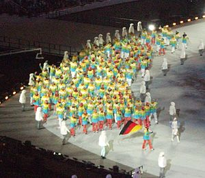 Germany at the 2014 Winter Olympics - Team Germany at the Opening Ceremony.