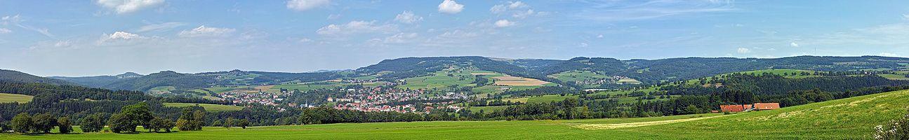 Gersfeld from (Rhön) from Rodenbach knoll