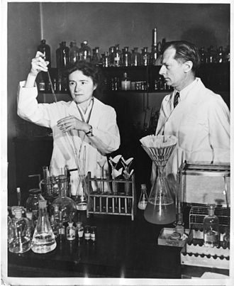 Biochemistry - Gerty Cori and Carl Cori jointly won the Nobel Prize in 1947 for their discovery of  the Cori cycle at RPMI.