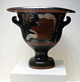 Getty Villa - Mixing vessel with a comic mask - inv.96.AE.239.jpg