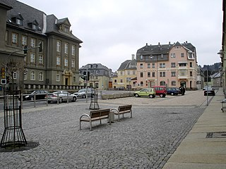 Geyer Place in Saxony, Germany