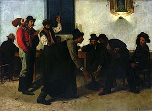 Morra (game) - Morra players in Rome by Aleksander Gierymski (1874), National Museum in Warsaw
