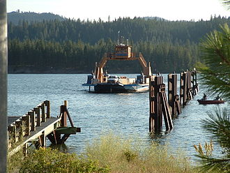 Washington State Route 25 - The Gifford–Inchelium Ferry operates across the Columbia River from Inchelium to SR 25 in Gifford.
