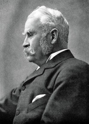 Photo of Sir William Schwenck Gilbert.