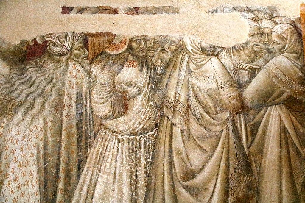 Giovanni di Paolo, Crocifissione, affresco, L'eremo di San Leonardo al Lago, Siena