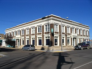 National Register of Historic Places listings in Valley County, Montana - Image: Glasgow, MT First National Bank Building