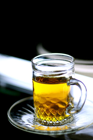 Kuwaiti tea - A glass of cinnamon tea