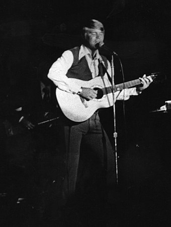 Campbell performing at the Michigan State Fair, c. 1970 Glen Campbell.jpg