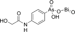Structural formula of glycobiarsol