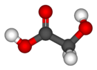 Ball-and-stick model of glycolic acid