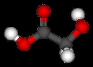Glycolic acid - Image: Glycolic acid 3d