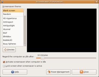 Screensaver - Gnome-screensaver has an option for password protection