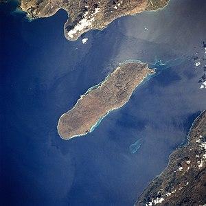 Gonâve Island - 1994 view of La Gonâve from NASA STS-60