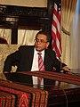 Governor of Aceh, Irwandi Yusuf, speaking at Indonesian Embassy; September 2007.jpg
