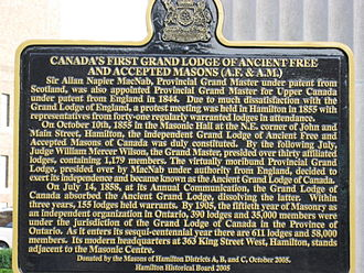 Grand Lodge of Canada in the Province of Ontario - Image: Grand Lodge Of Canada B