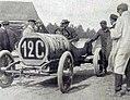 Grand Prix de l'ACF 1906, E. Fitz Sheppard milliardaire américain, au départ sur Hotchkiss.jpg