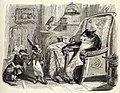 Grandville - Fables de La Fontaine - 07-16 . Le Chat, la Belette et le Petit Lapin.jpg