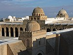 Great Mosque of Kairouan, flat roof and domes.jpg
