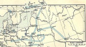 Карта театра военных действий Великой Северной войны. Исторический атлас Шеферда 1911