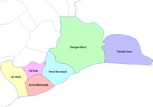 Regione della Grande Accra--Greater Accra districts