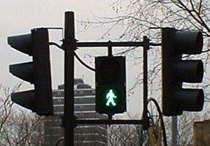"Pelican crossing - ""green man"", London (2004)"