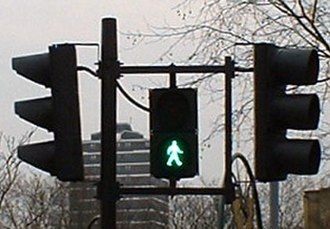 "Pelican crossing - The ""green person"" signal"