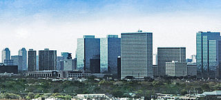 Greenway Plaza Business district of Houston in Texas, United States