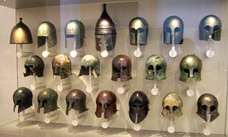 Illyrian type helmet - Image: Griechische Helme 1