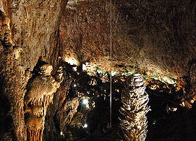 Inside the Grotta Gigante, looking towards the tourist entrance