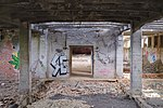 Ground floor of an abandoned building in the Ronet classification yard (DSCF5512).jpg