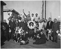 Group photograph of surviving crewmen from the torpedoed lumber ship, S.S. Absaroka - NARA - 295594.tif